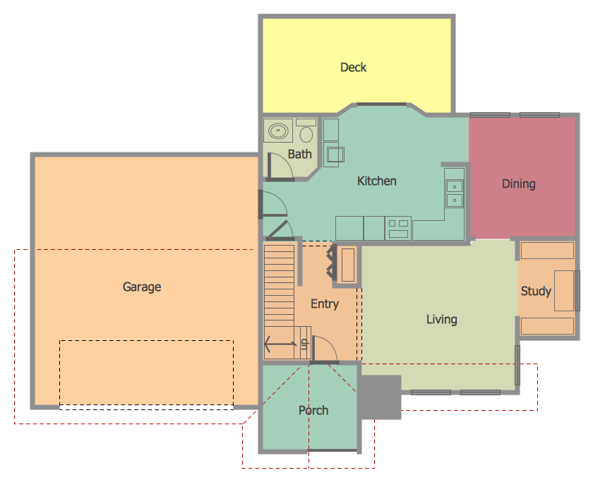 Home layout drawing for Building floor plan software