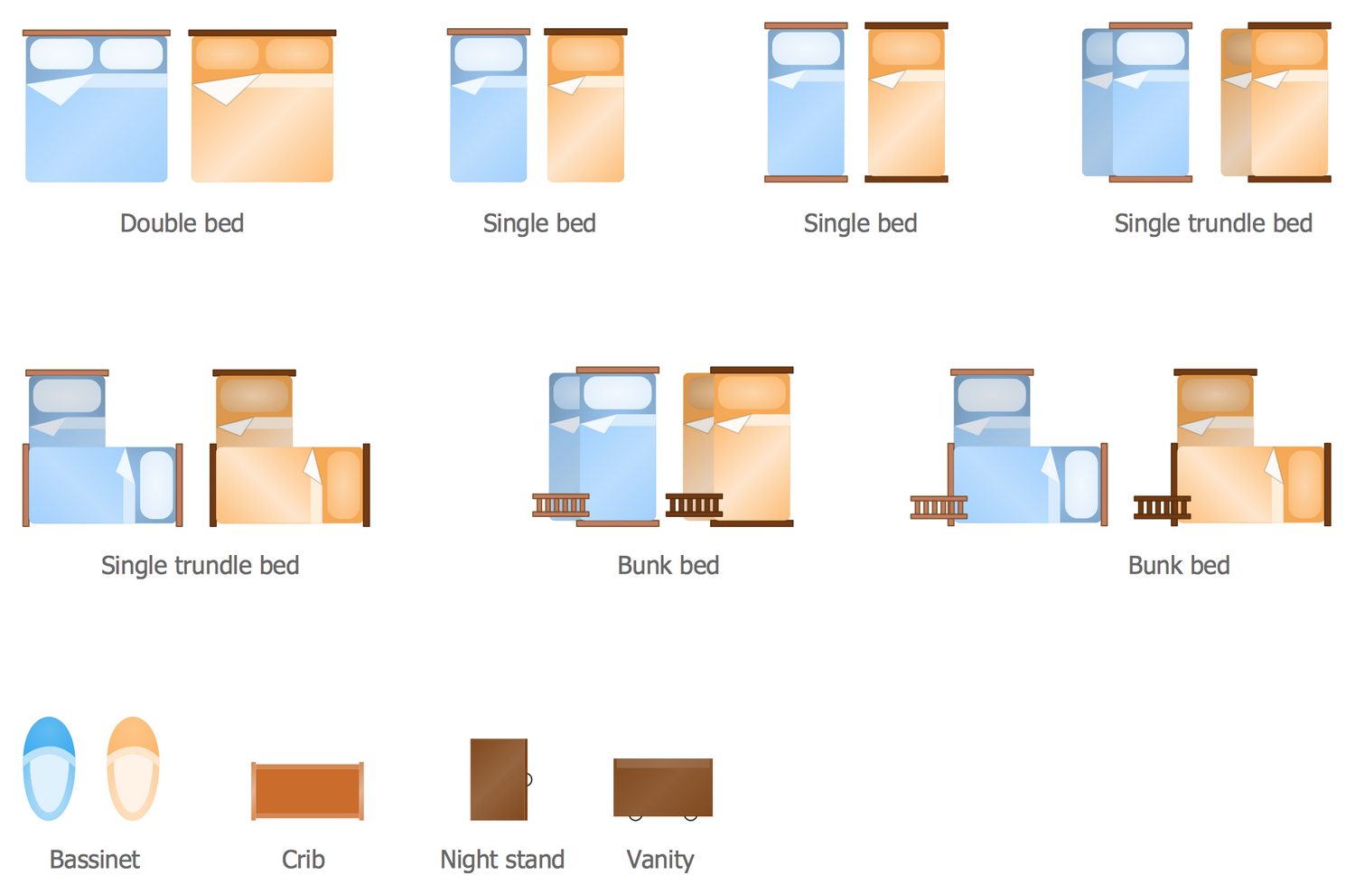 Design Elements Floor Plans — Bedroom