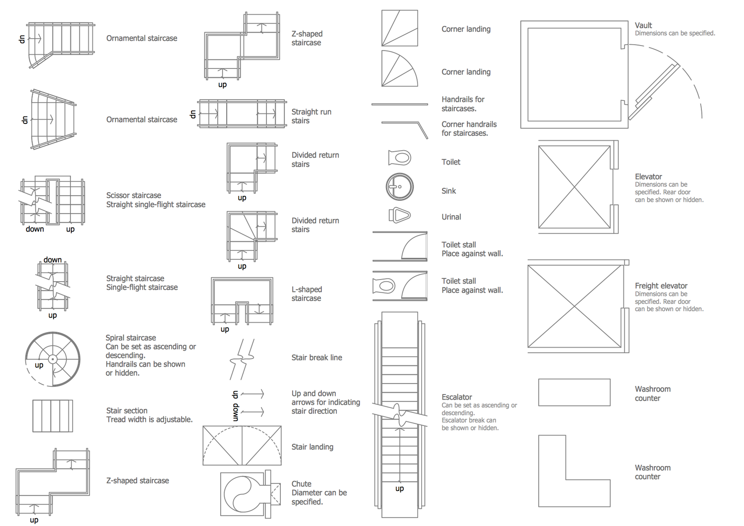 Design Elements Floor Plans — Building Core