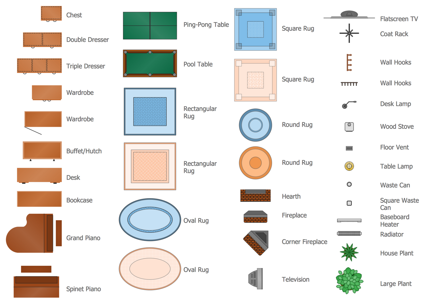 Design Elements Floor Plans — Furniture