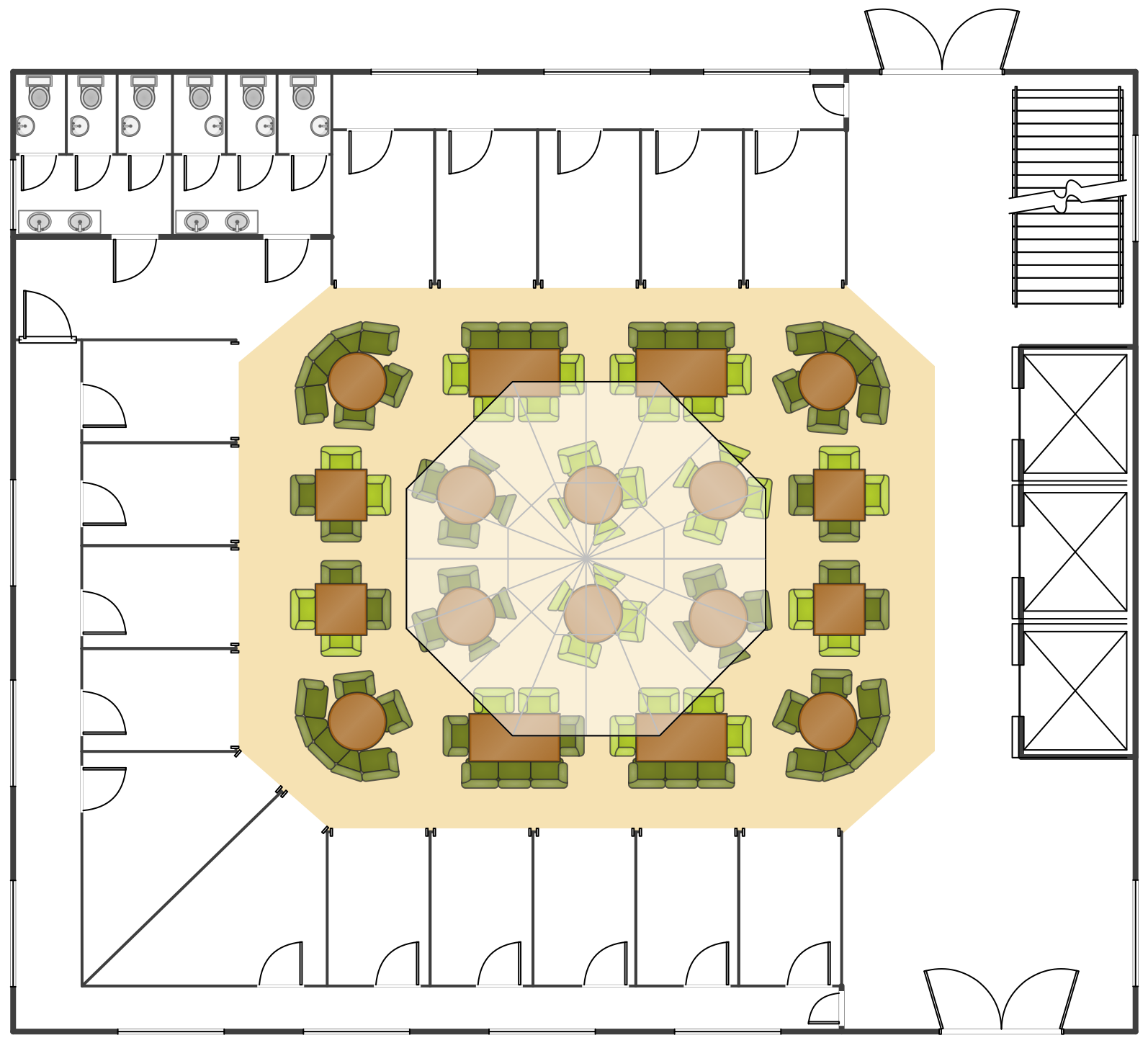 Food Court Floor Plan