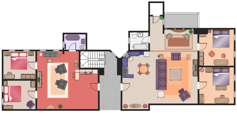 floor plans solution conceptdraw com rh conceptdraw com Patio House Plans Floor Plans From TV Shows