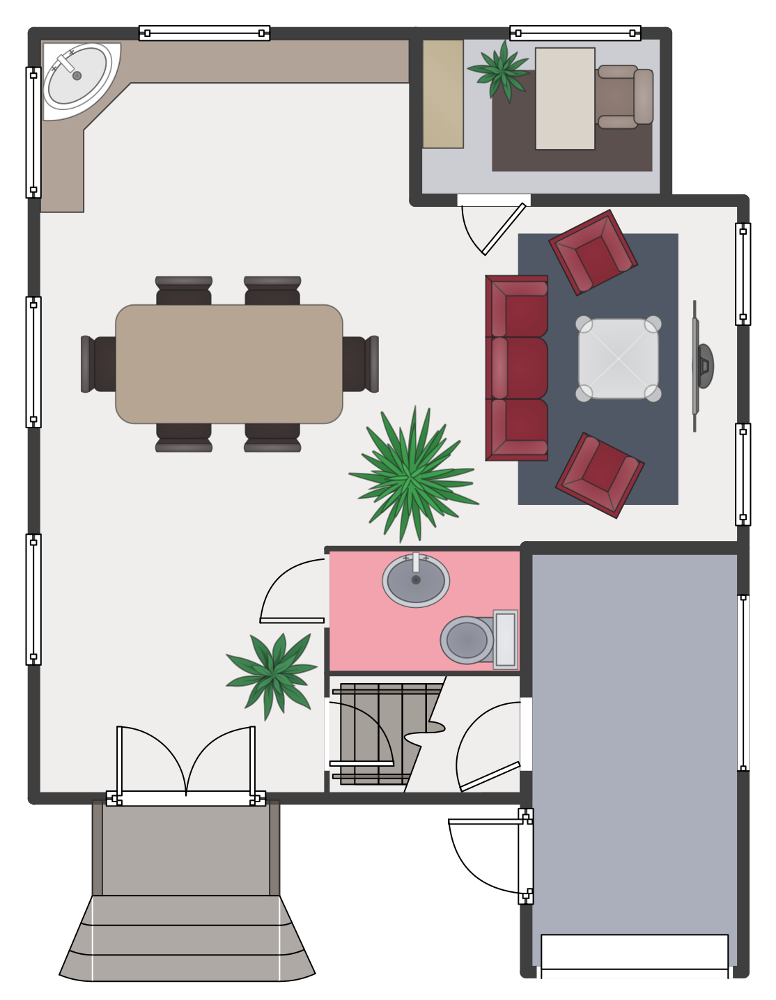 Floor plans solution for House drawing plan layout