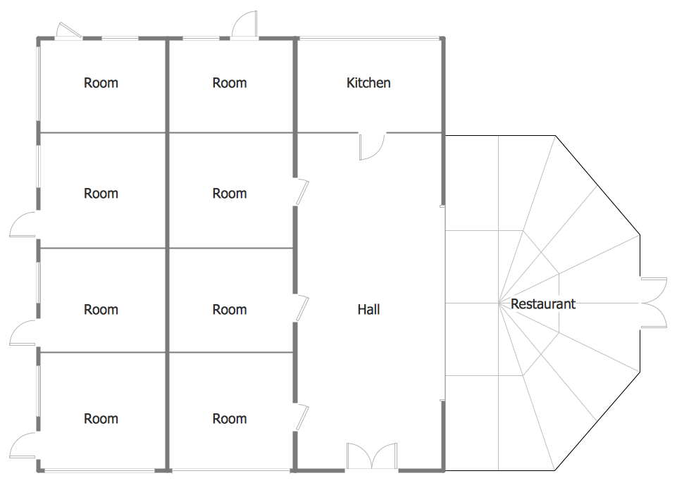 Minihotel Floor Plan Sample