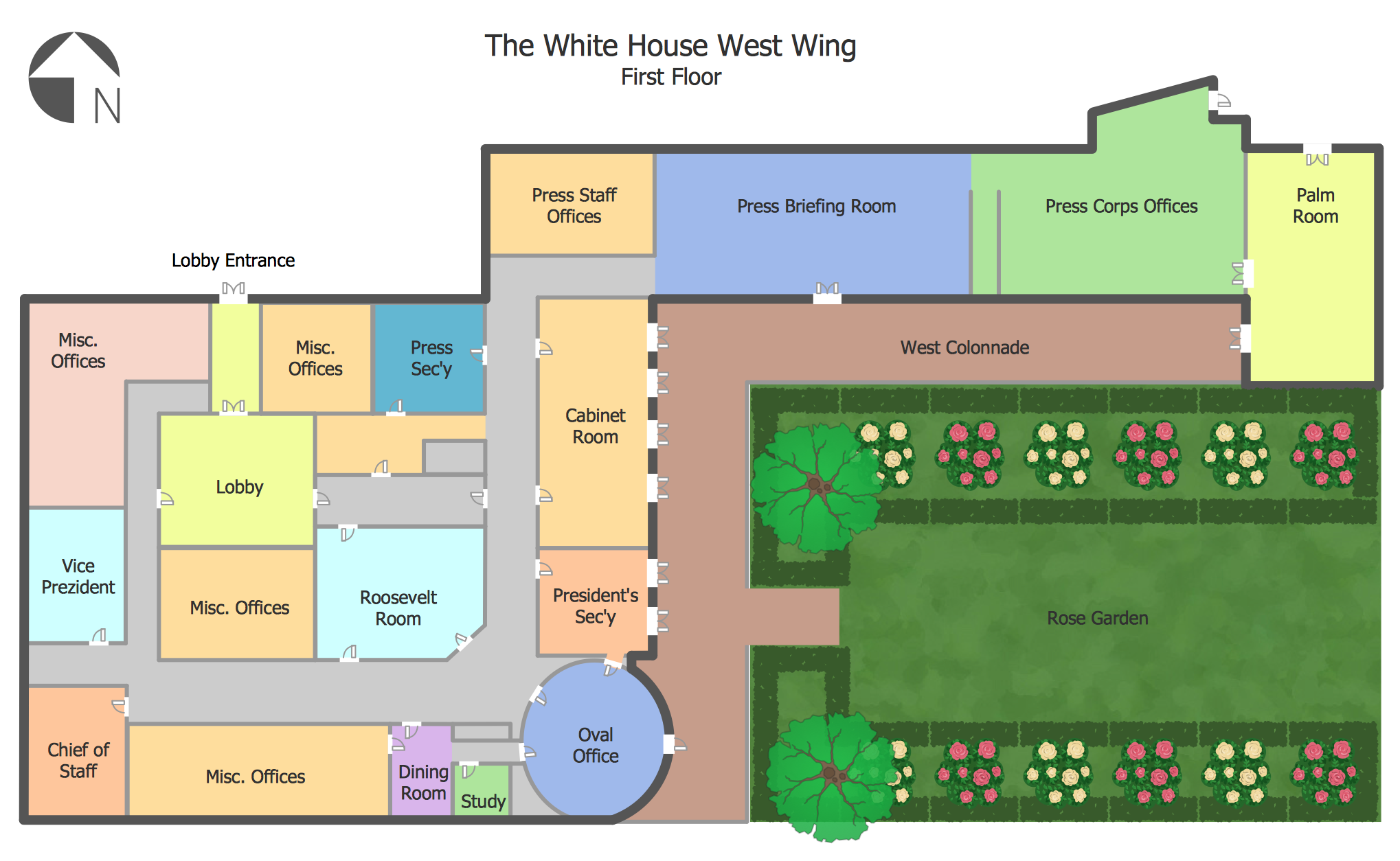 White House West Wing — 1st Floor