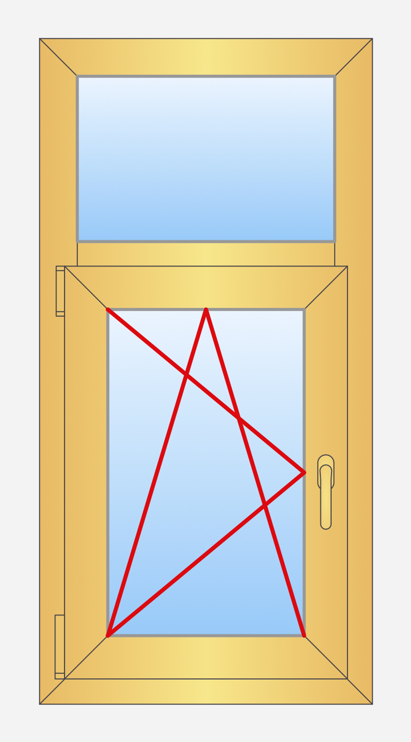 Tilted Window Fixed : Tilt and turn windows conceptdraw