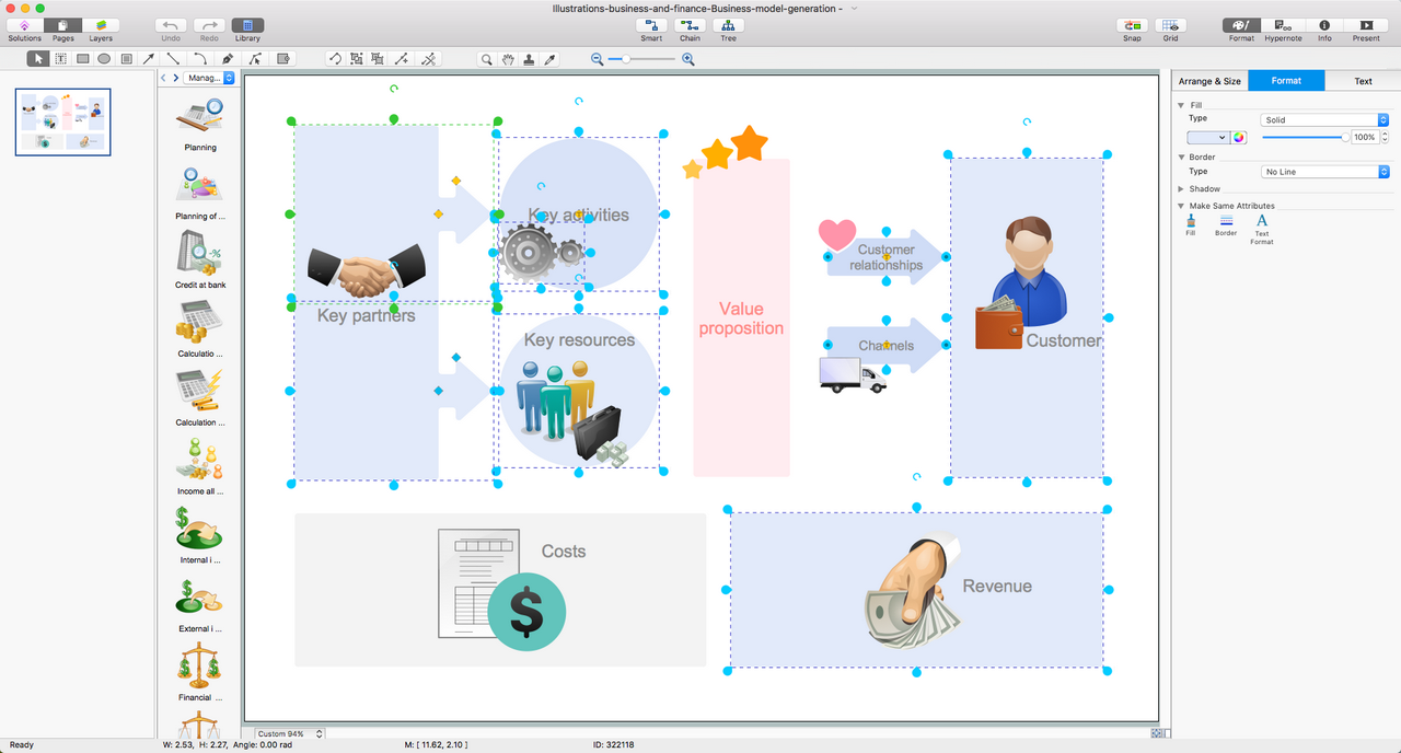 Business and Finance Illustration Solution for macOSs