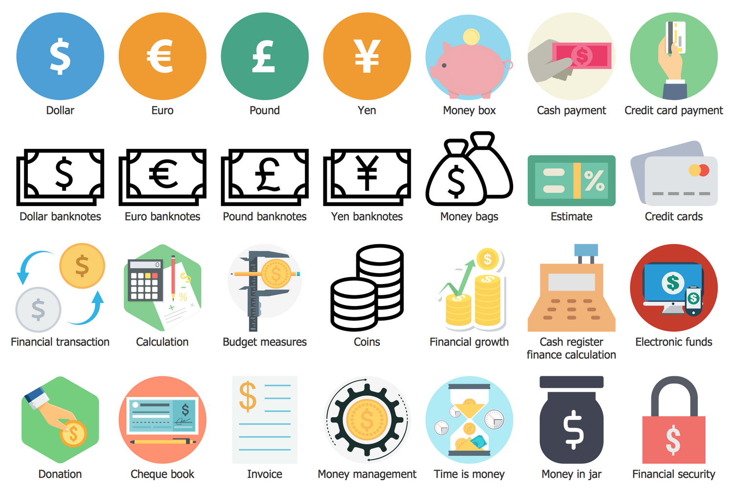 Design Elements Business and Finance — Currency