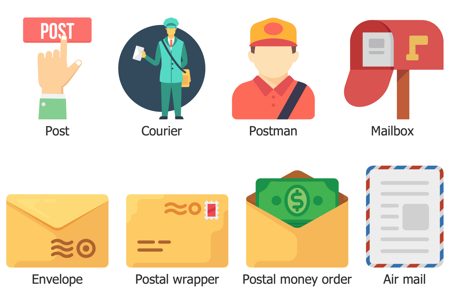 Design Elements Business and Finance — Post and Mail