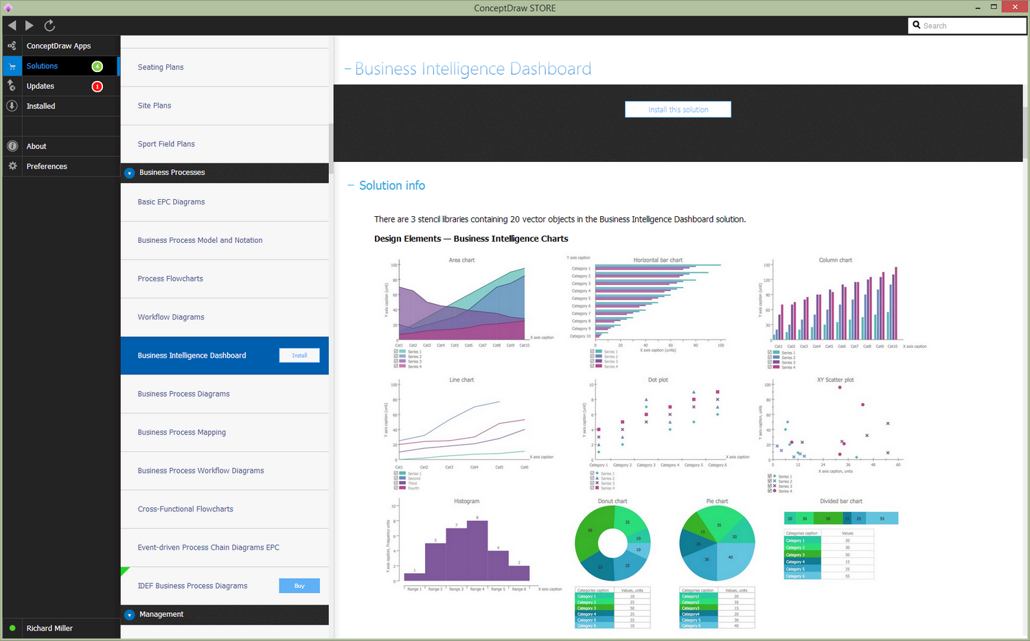 Business Intelligence Dashboard solution — Install