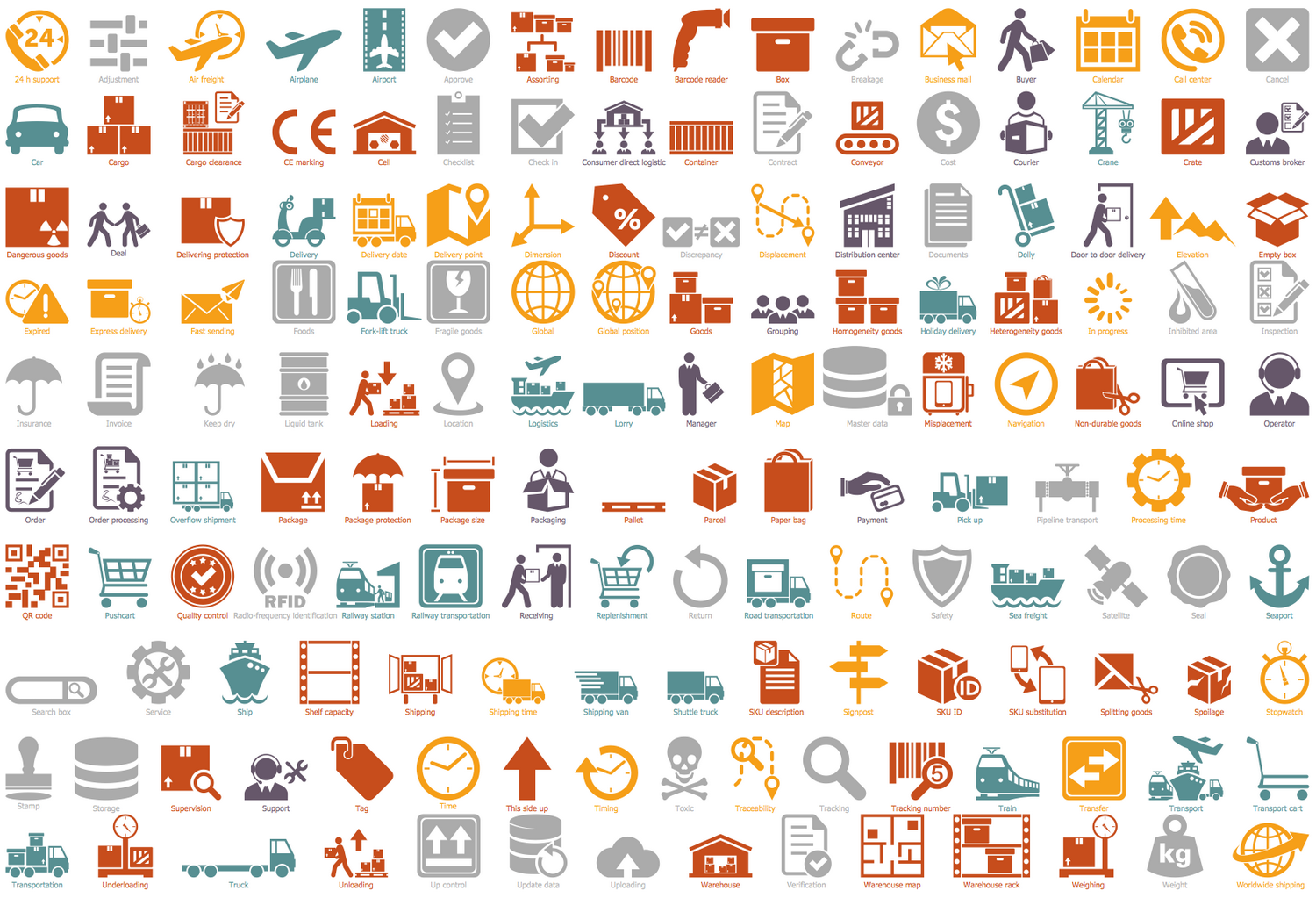 Design Elements — Logistic Icons