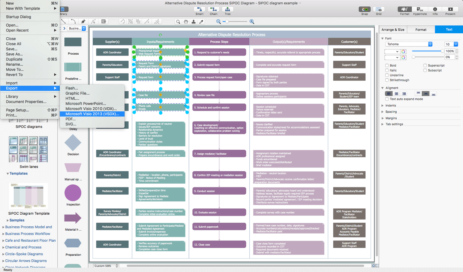 Business Process Diagram Solution for Apple OS X