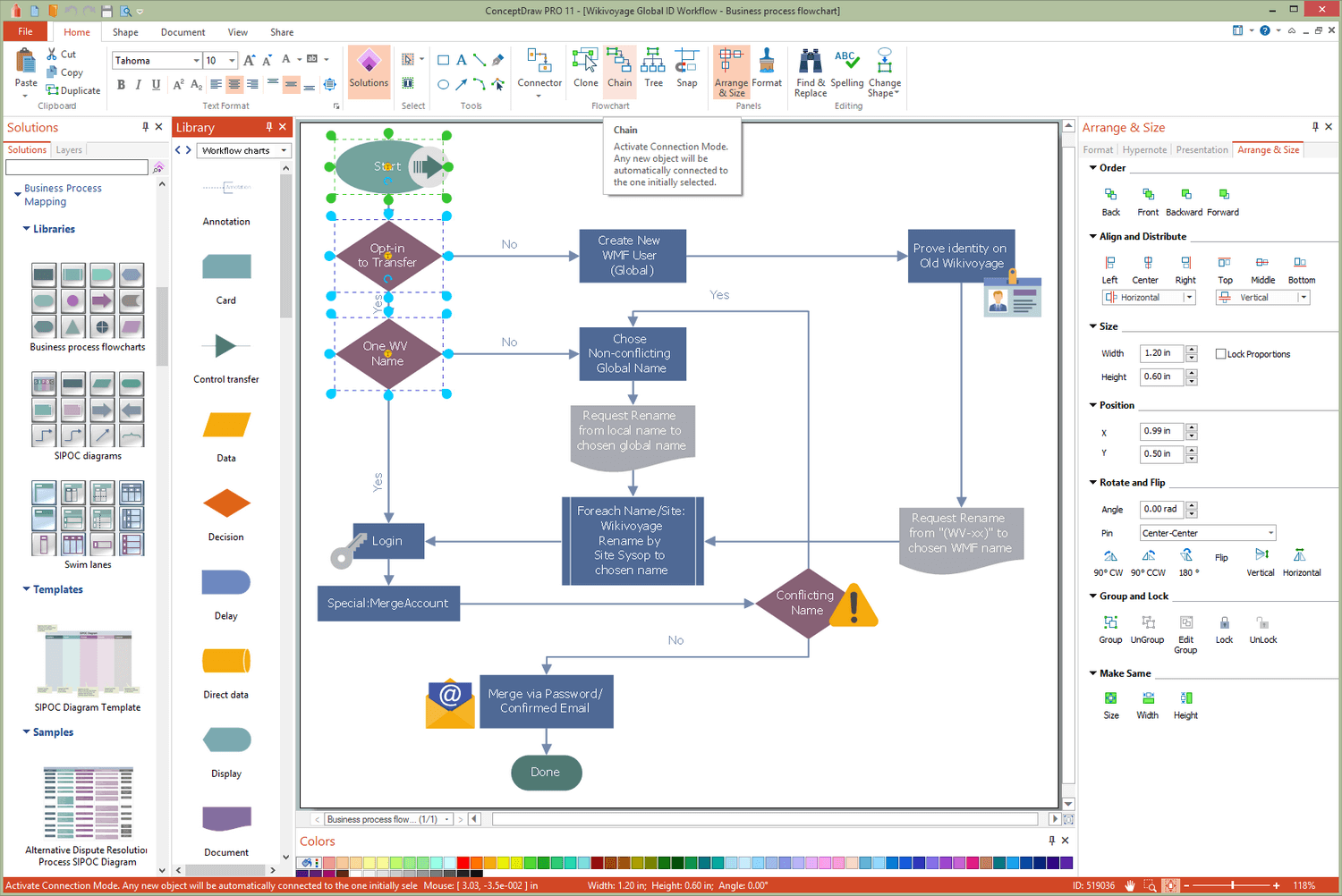 Business Process Workflow Diagrams Solution for Microsoft Windows