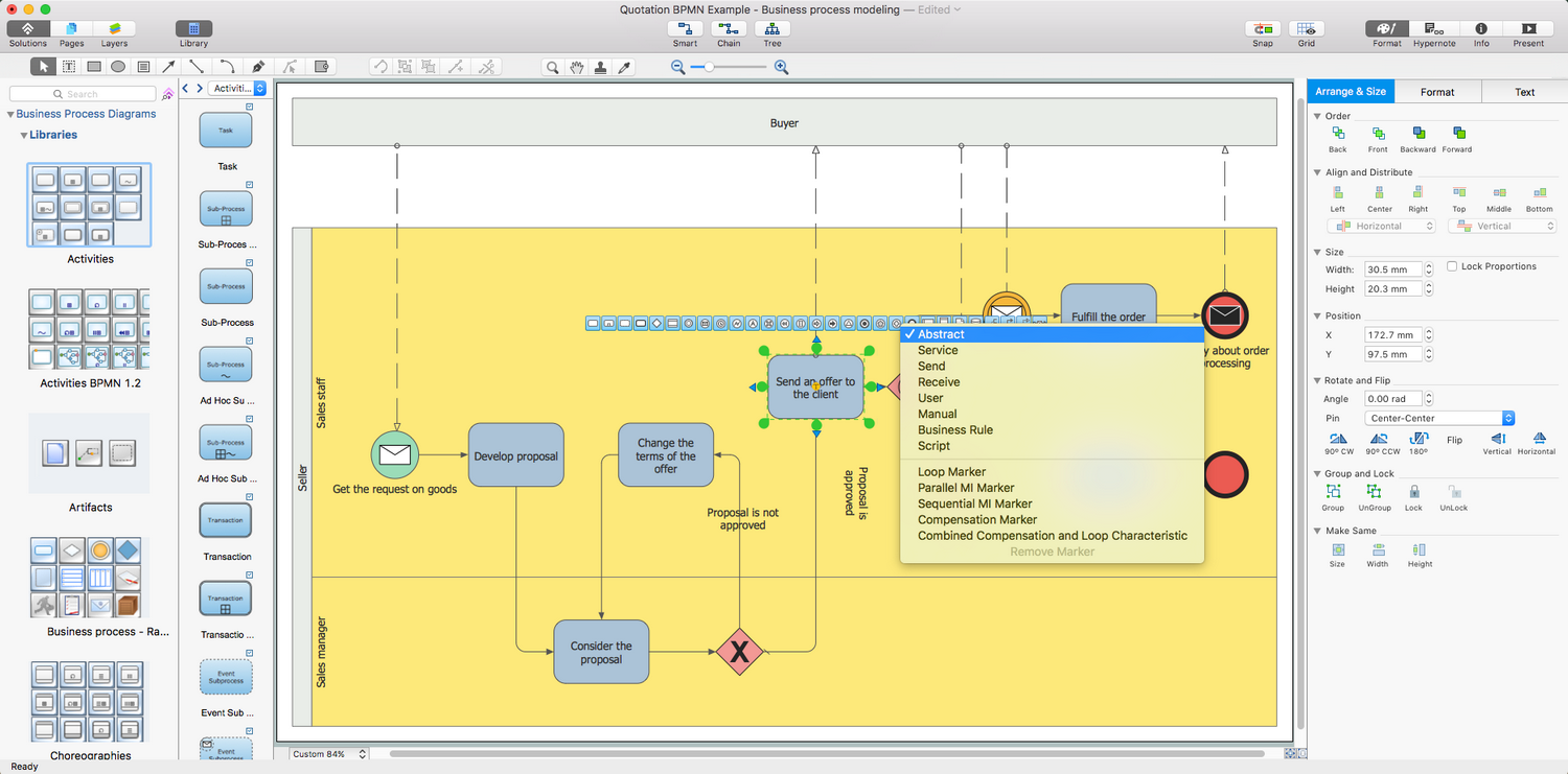 Business Process Diagrams Solution for Apple OS X