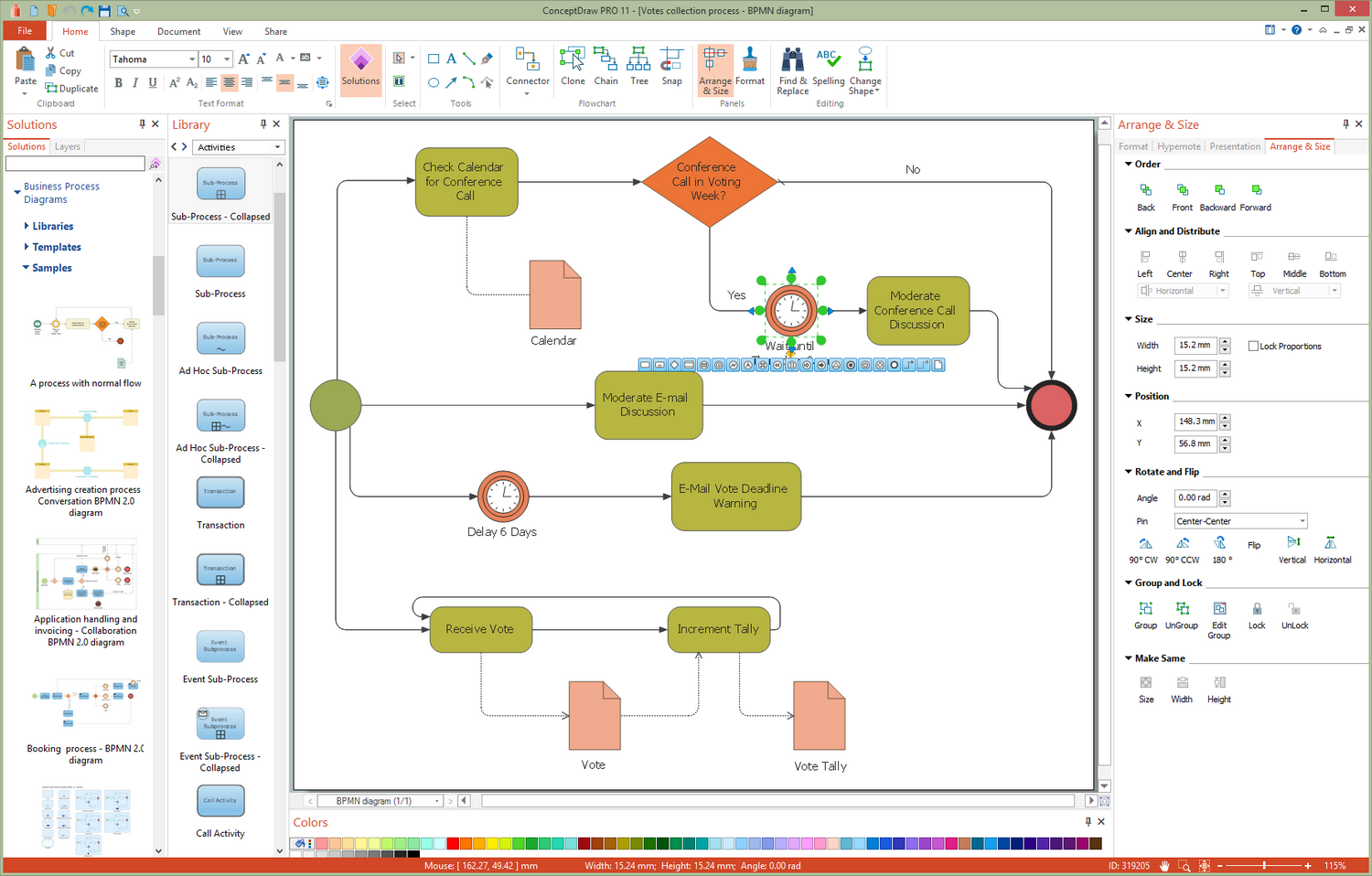 Business Process Diagrams Solution for Microsoft Windows