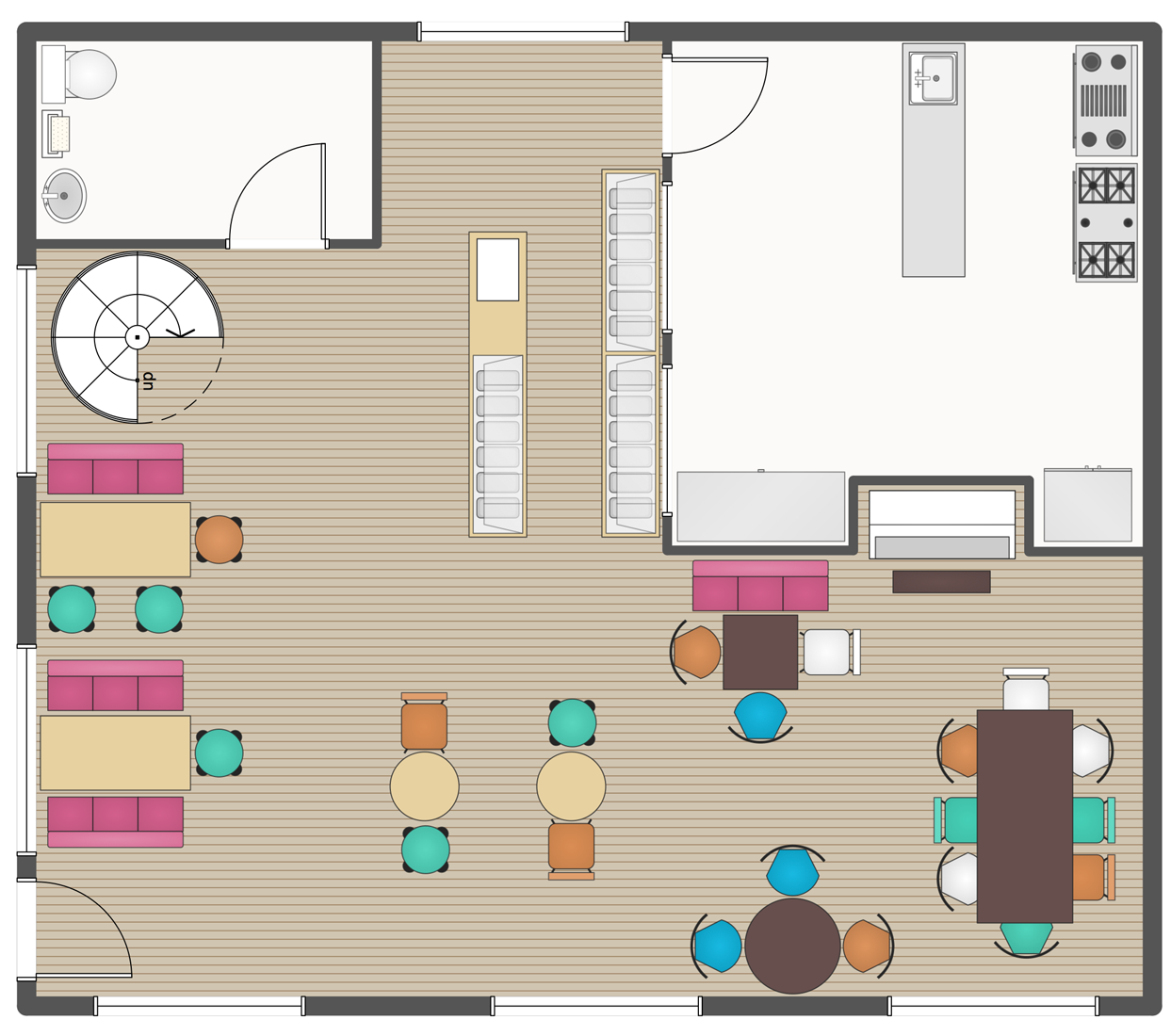 Cafe And Restaurant Floor Plan Solution Conceptdraw Com