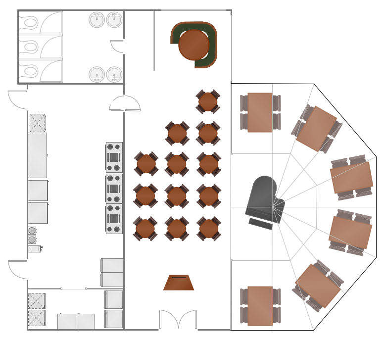 Cafe and restaurant floor plan solution for Restaurant blueprint maker