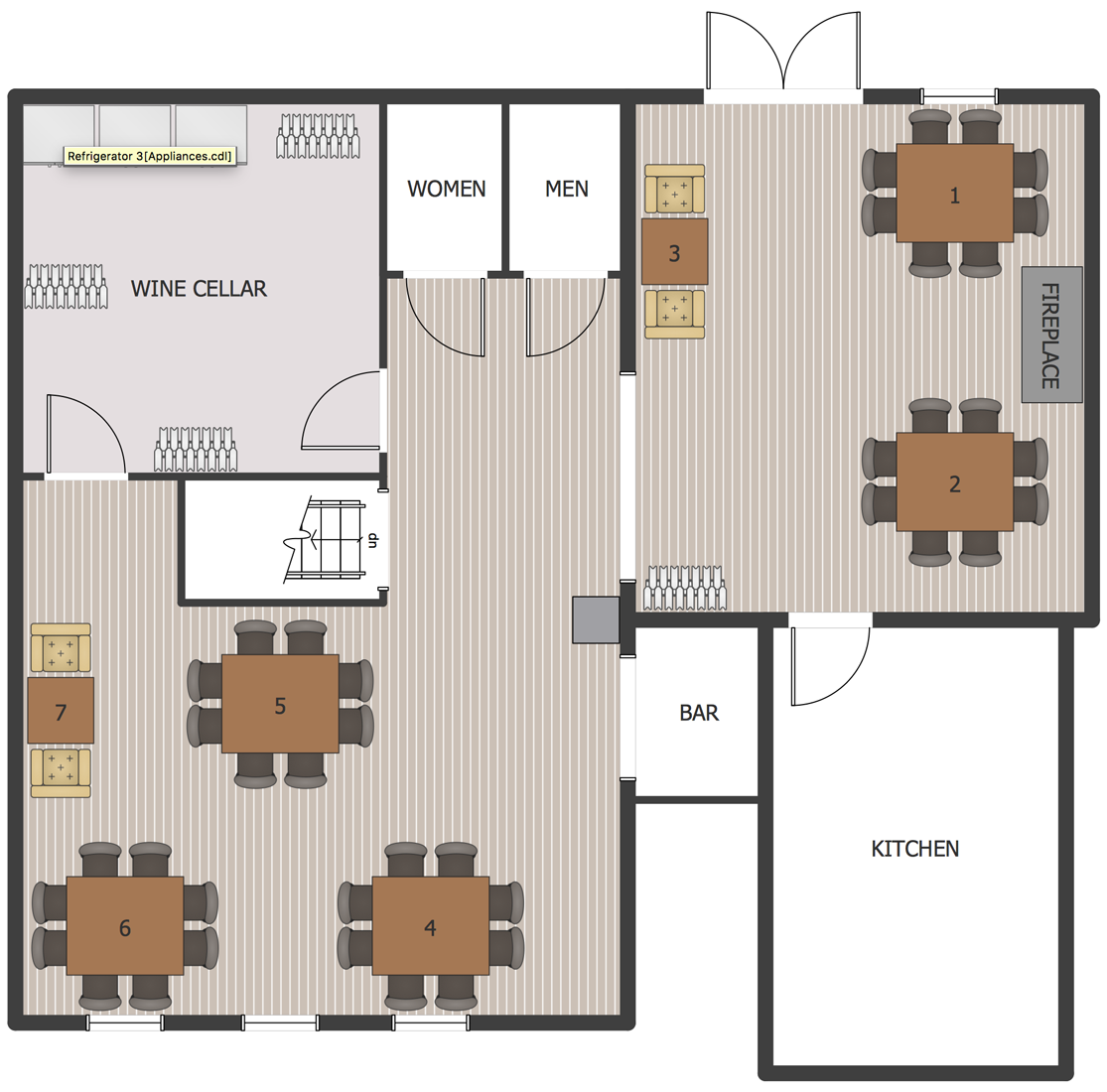 Wine Cellar Floor Plan