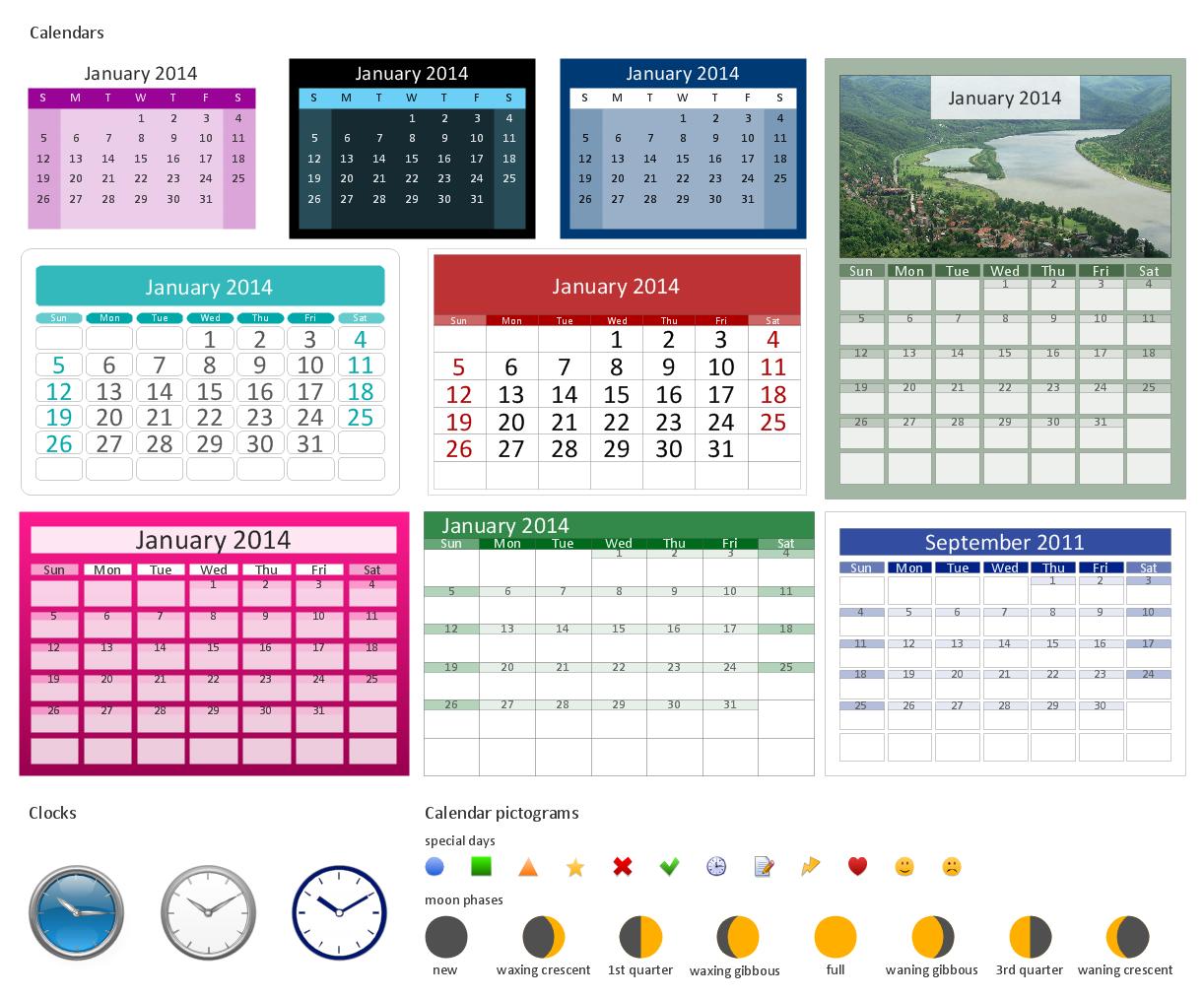 Design Elements — Calendars