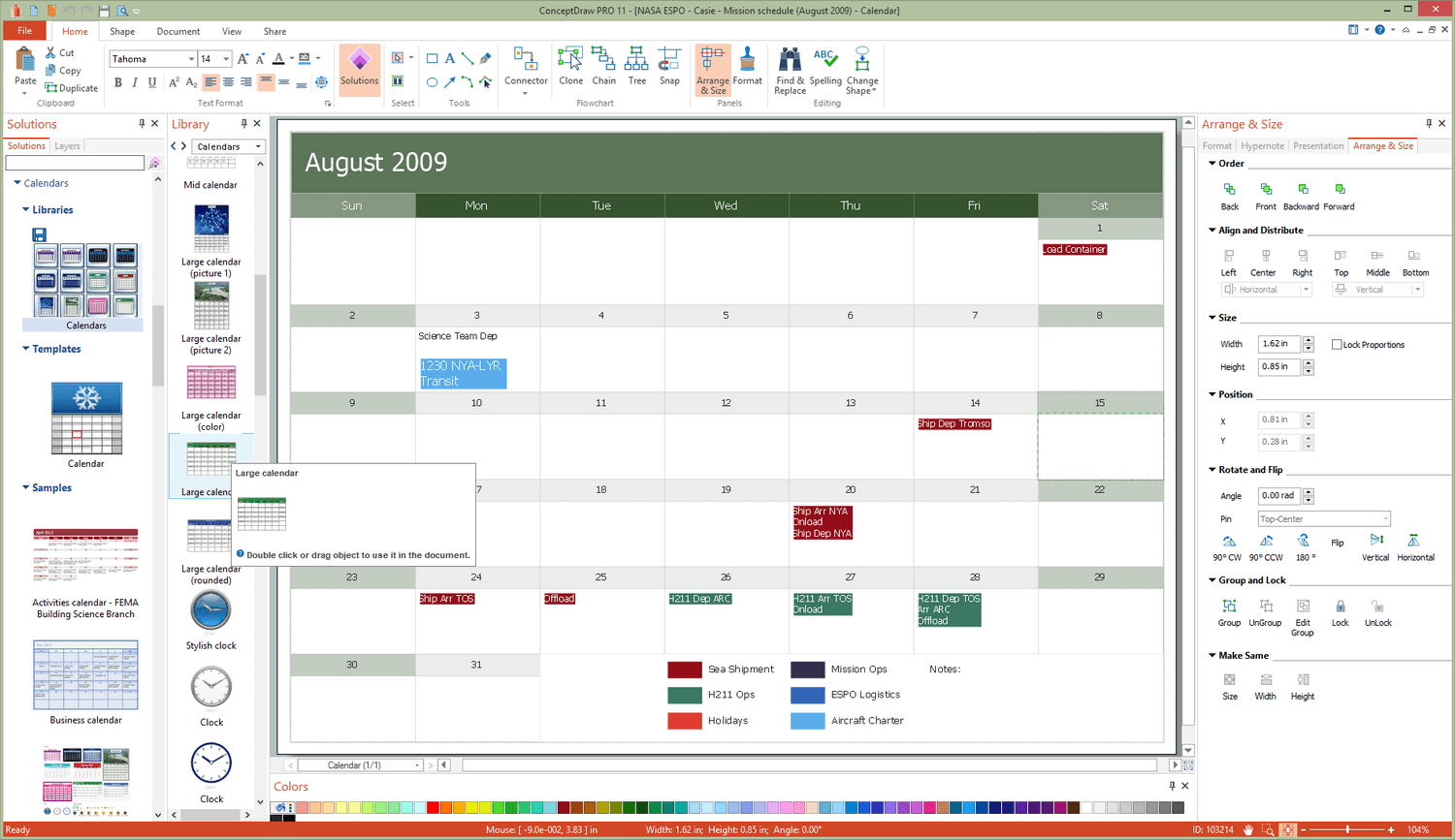 Calendars Solution for Microsoft Windows