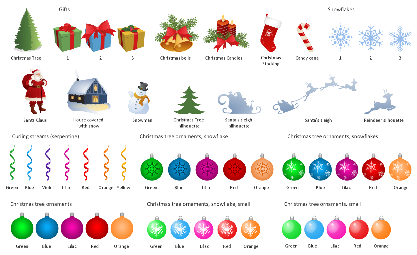 Design Elements — Christmas and New Year