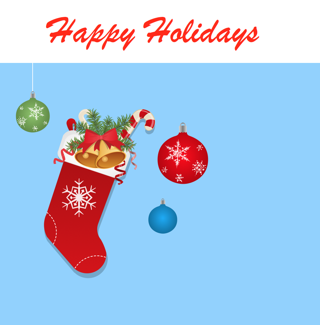 Happy Holidays Greeting Card - Christmas Stocking