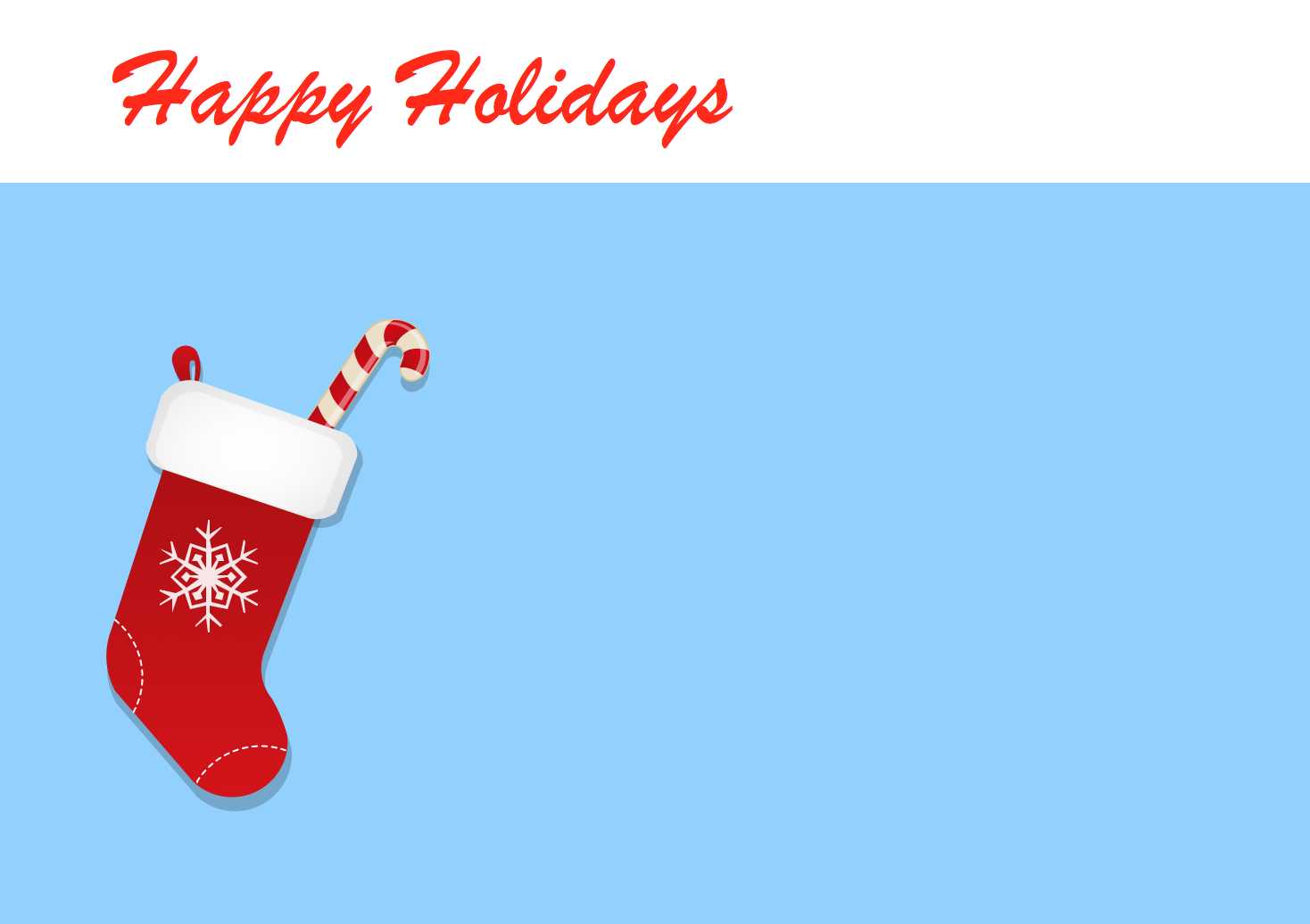 Holiday solution holiday clipart conceptdraw christmas stocking kristyandbryce Image collections