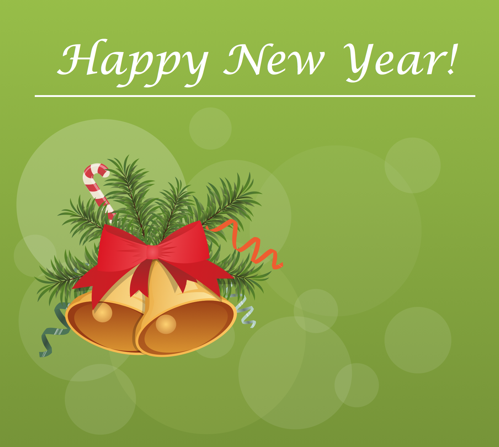 New Year Card — Christmas Bells