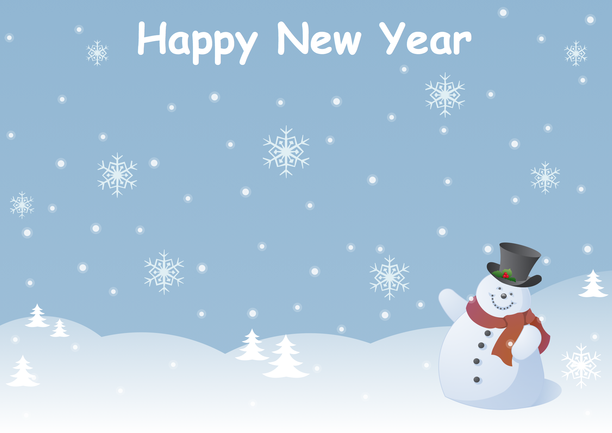 New Year Card - Snowman