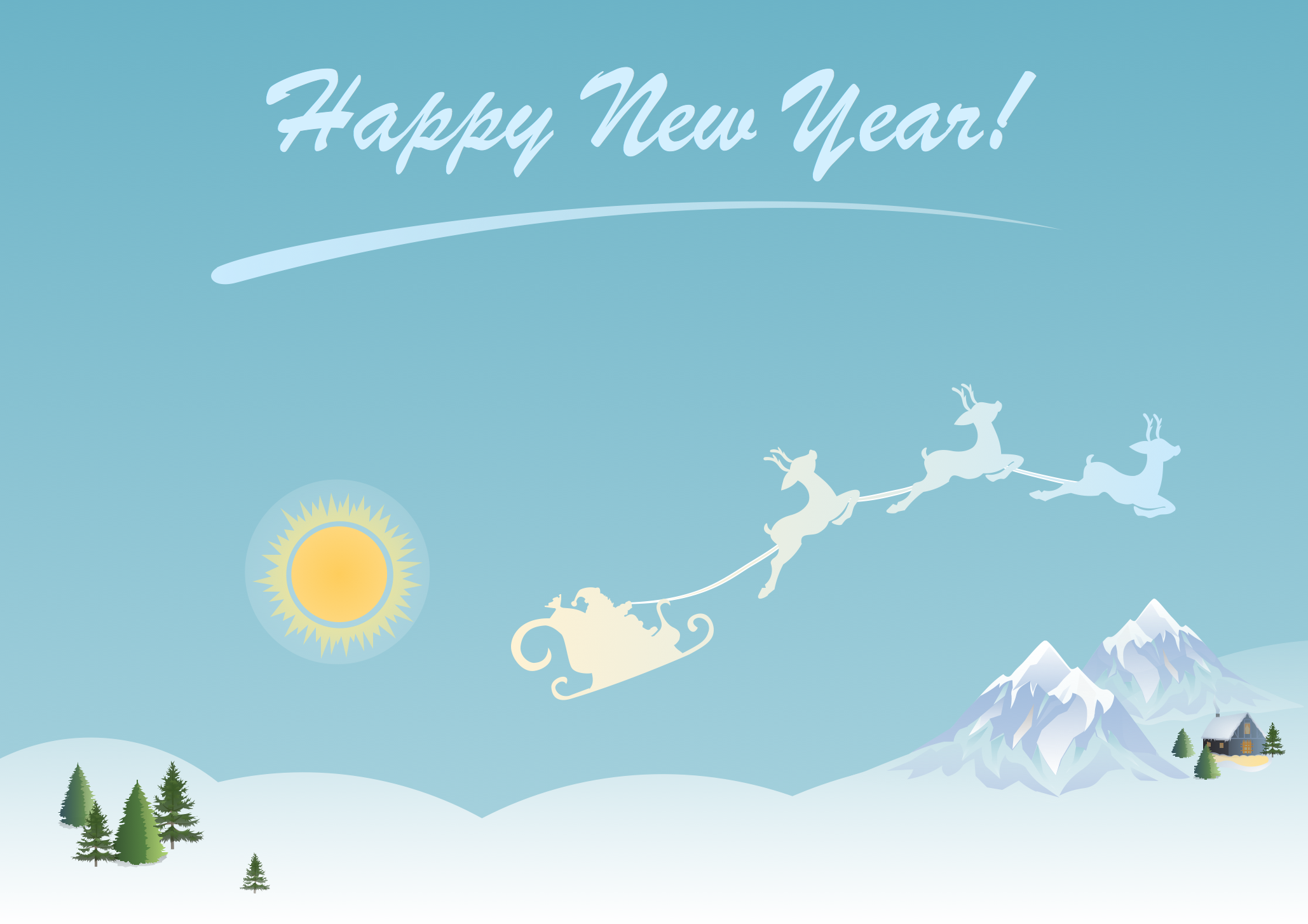 New Year Card - Winter Day