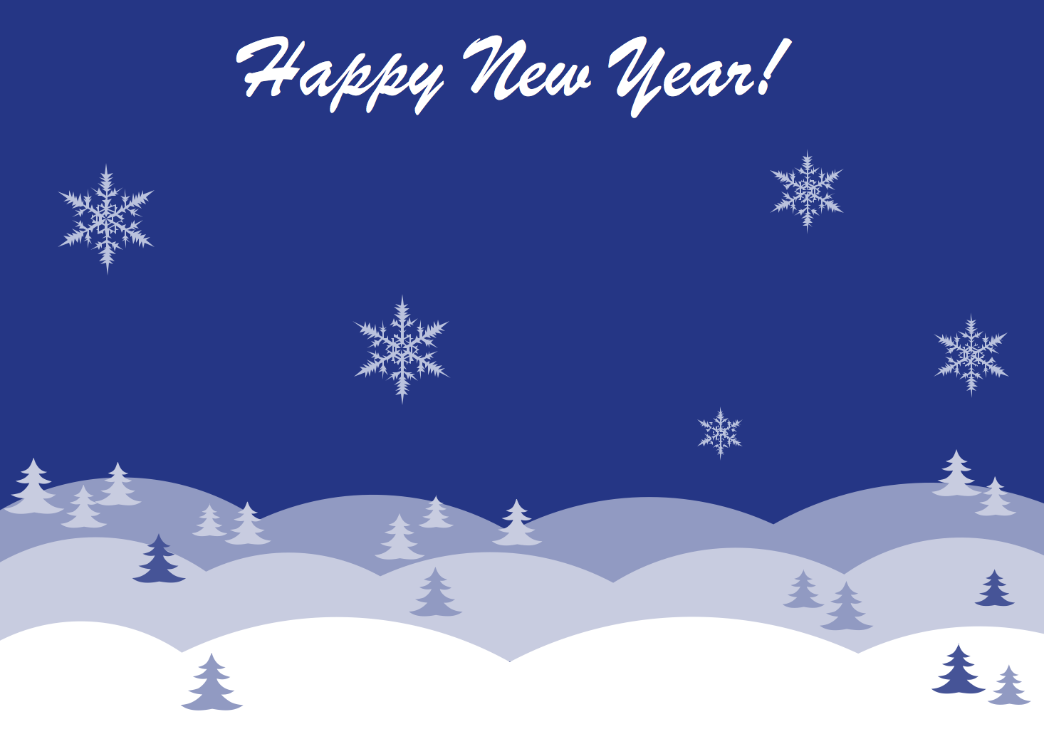 New year card template Winter night