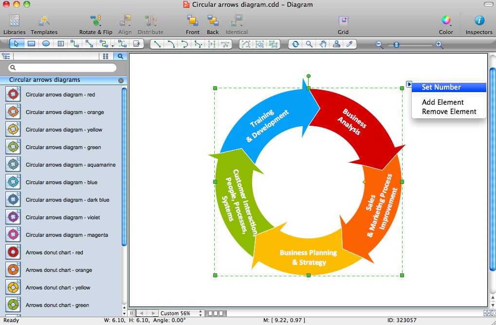 Circular Arrows Diagrams Solution for Mac OS X