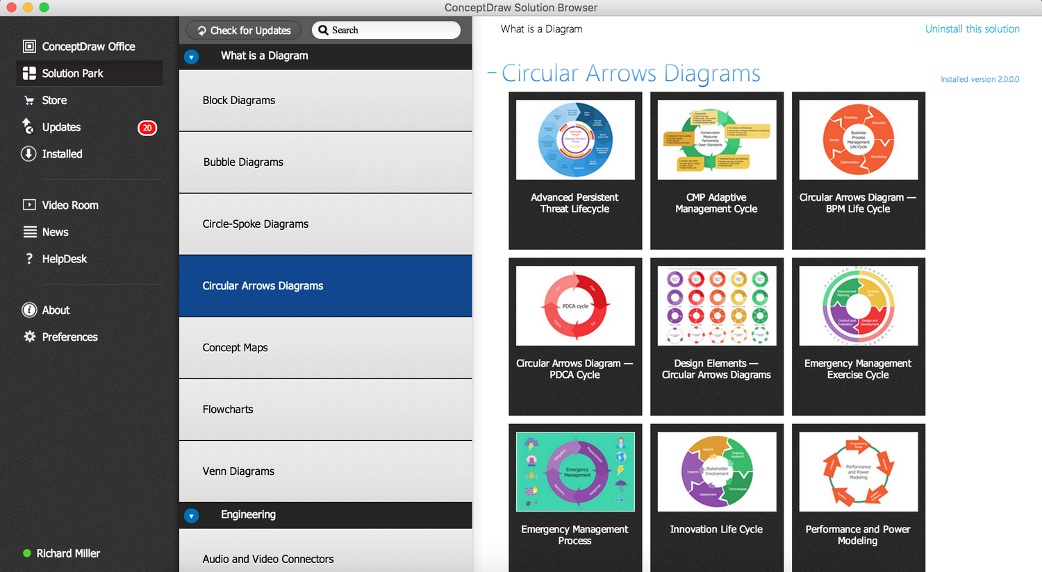 Circular Arrows Diagrams solution - Start Using