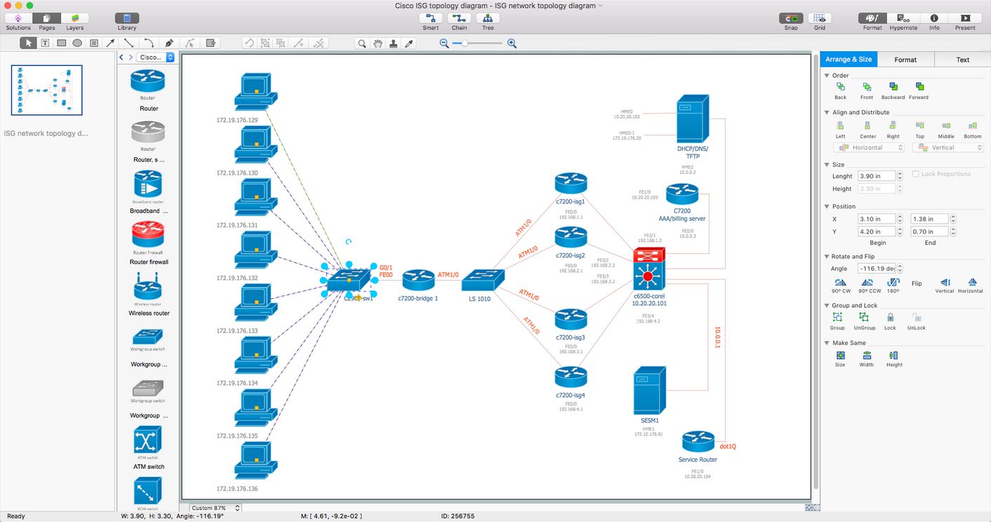 Cisco Network Diagrams Solution for Mac OS X