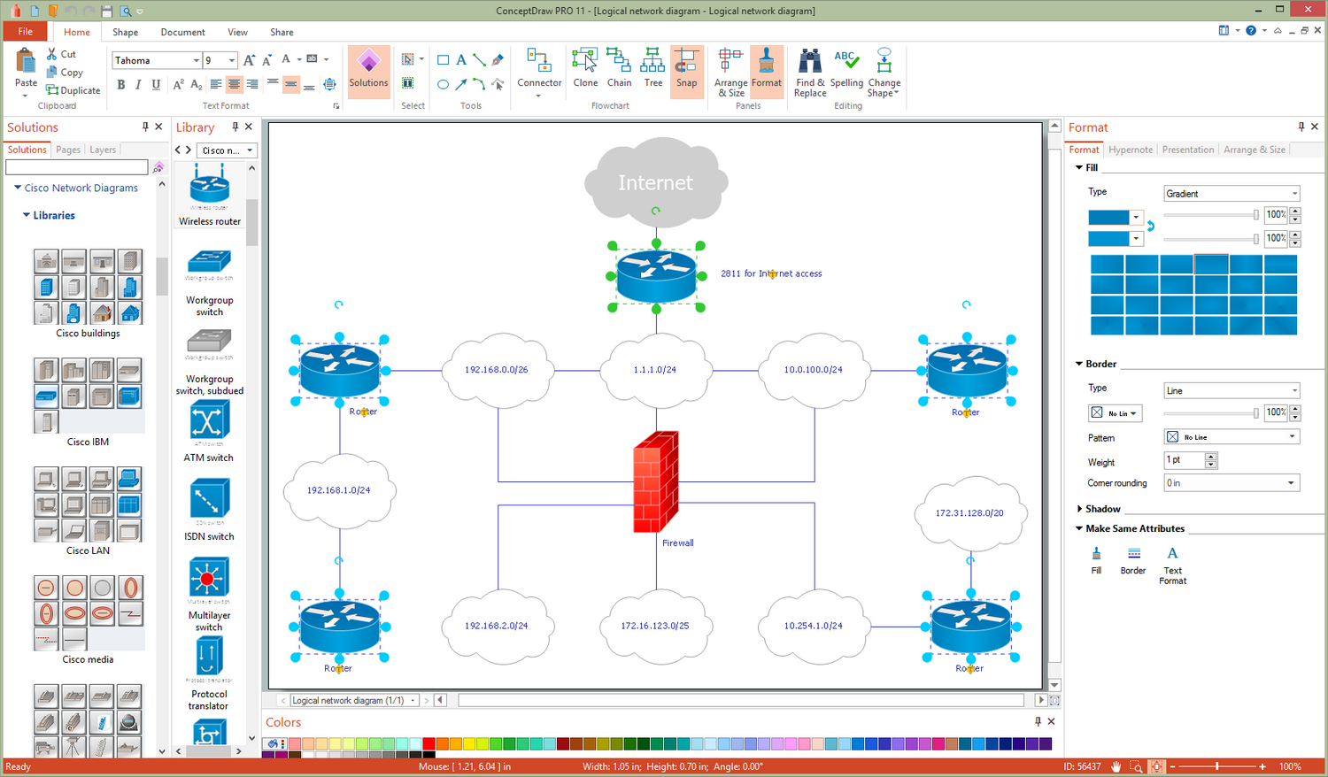 Cisco Network Diagrams Solution for Microsoft Windows