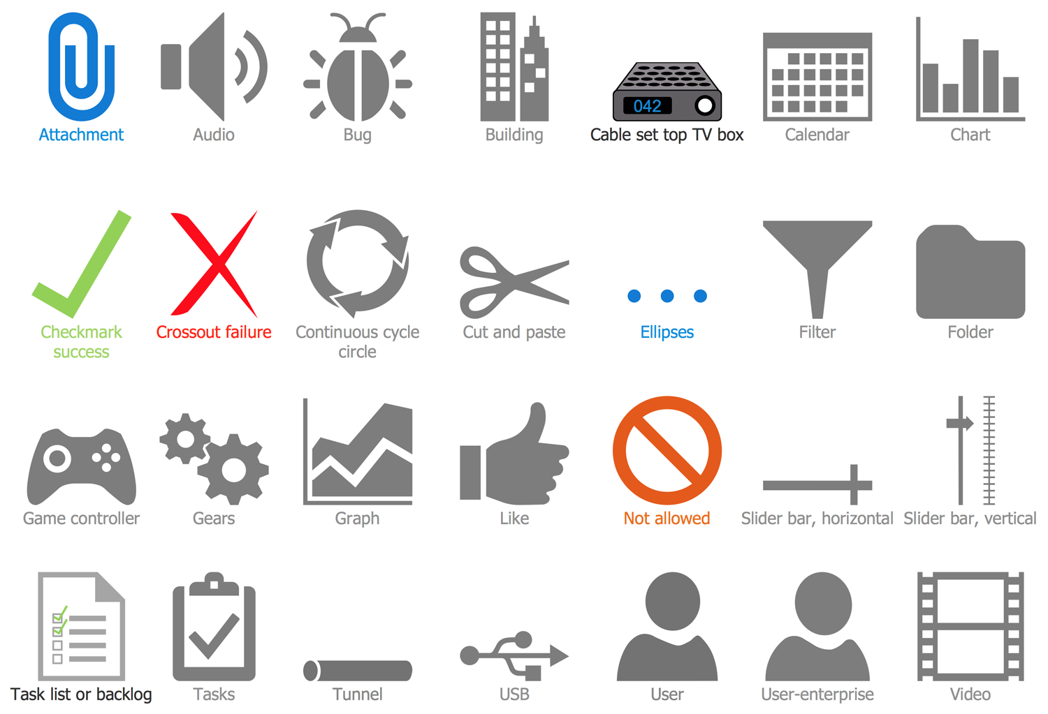 Design Elements Microsoft Azure Architecture — Symbols