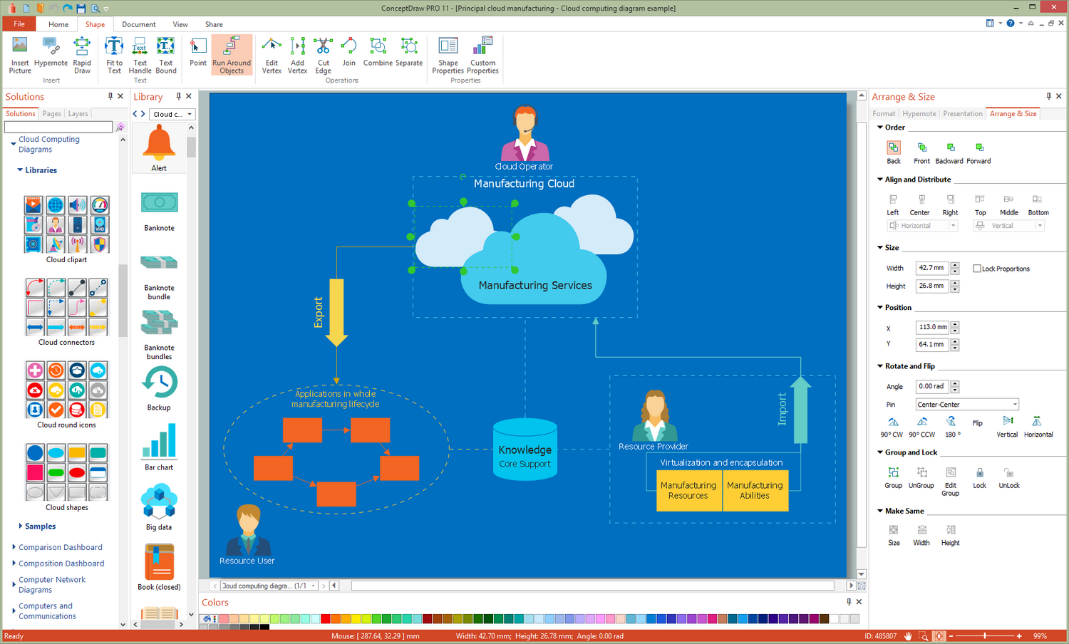 Cloud Computing Diagrams Solution for Microsoft Windows