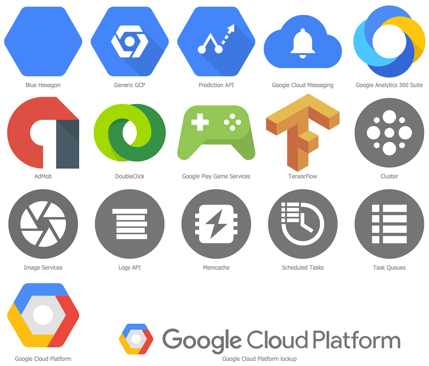 Design Elements Google Cloud Platform — Extras