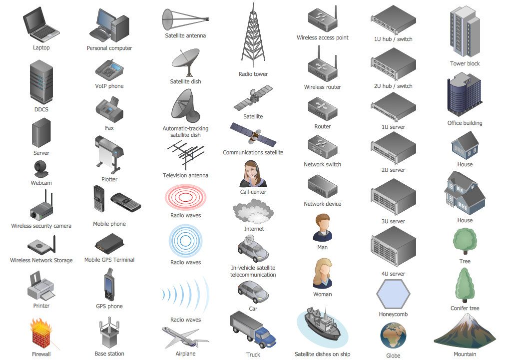 Design Elements — Computers and Network Isometric