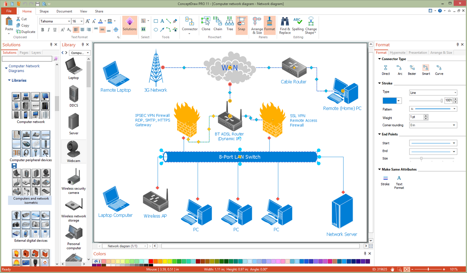 Computer Network Diagrams Solution for Microsoft Windows