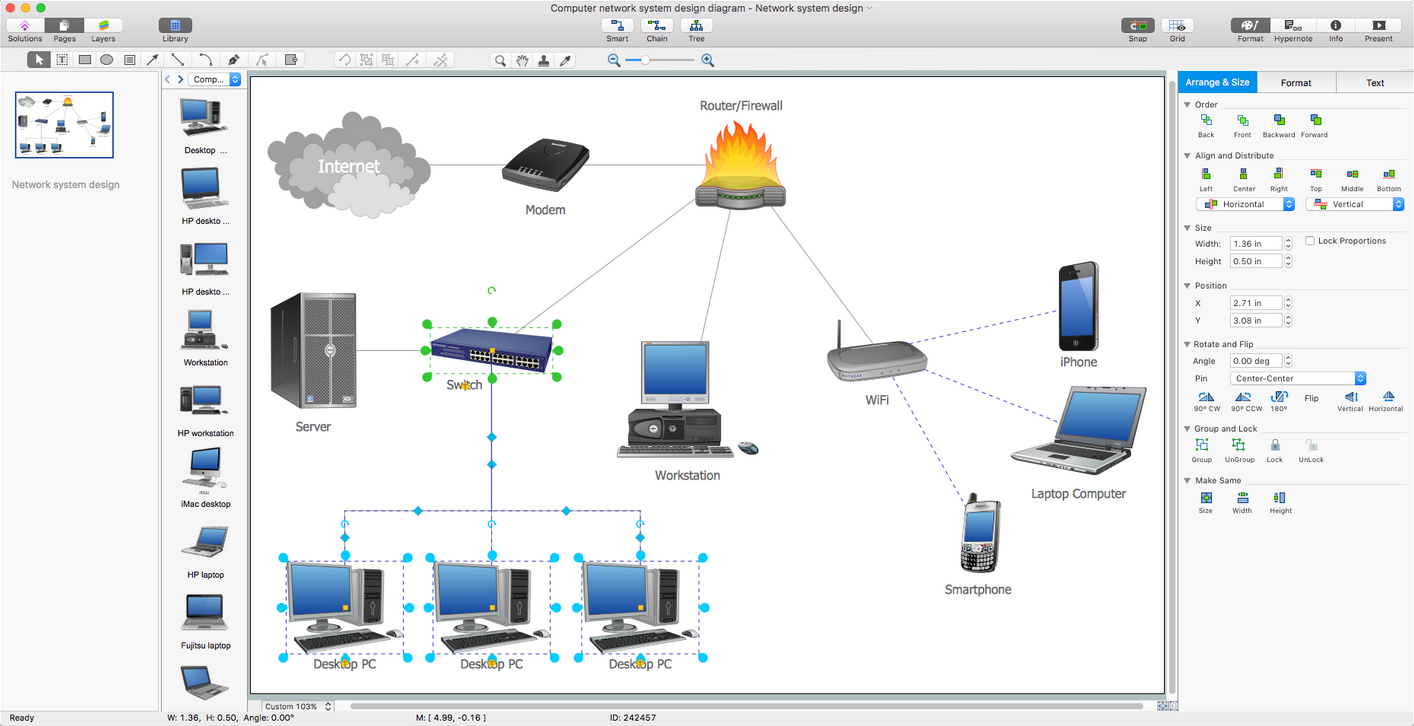 Computer Network Diagrams Solution for Mac OS X