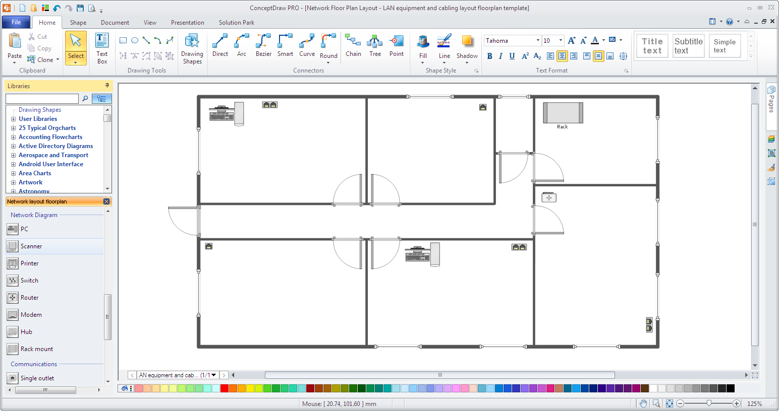 Office Network layout template