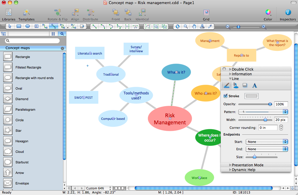Concept Maps Solution for Mac OS X