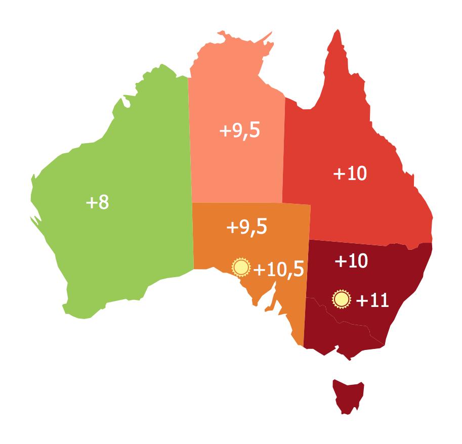 Australia States Time Zones