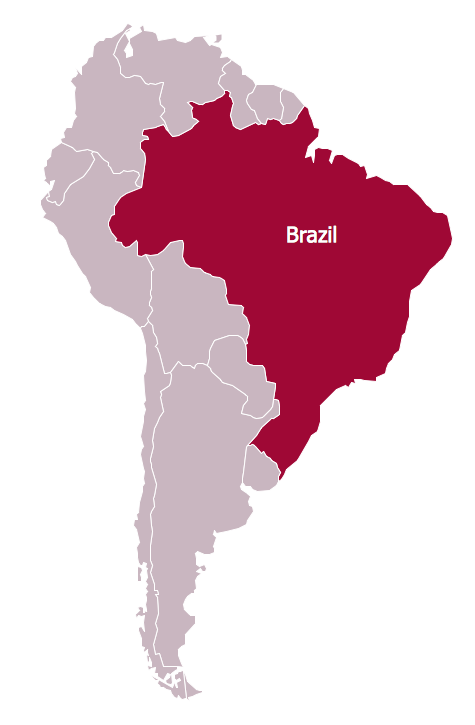 Continent maps solution conceptdraw continent map brazil in south america gumiabroncs Images