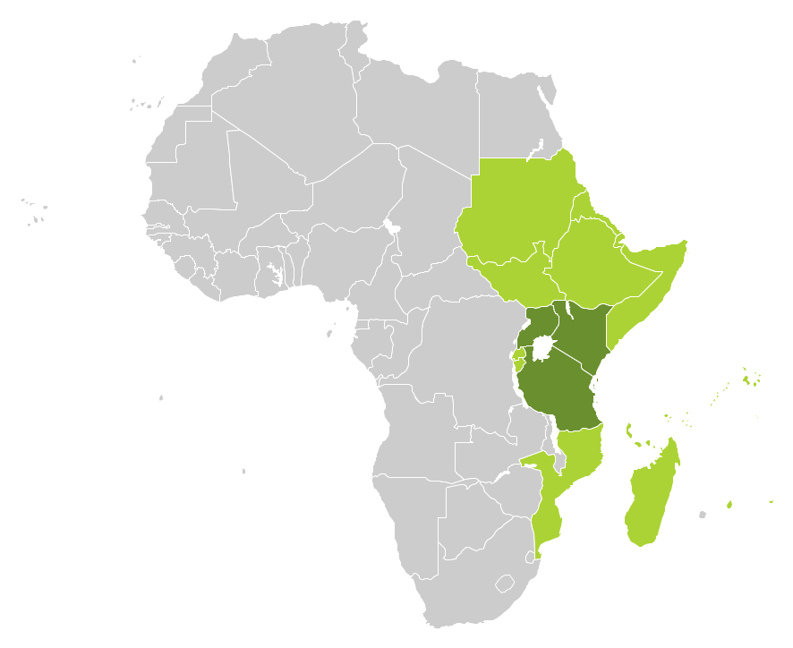 Continent maps solution conceptdraw continent map east africa countries gumiabroncs Image collections