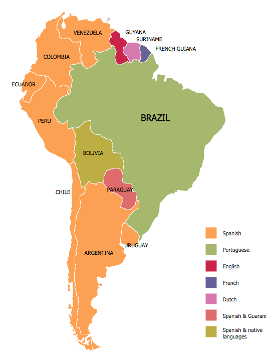 Languages Of South America Map MapPorn - South america map in spanish