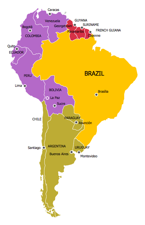 Search results for us map with state names calendar 2015 for What color is south america