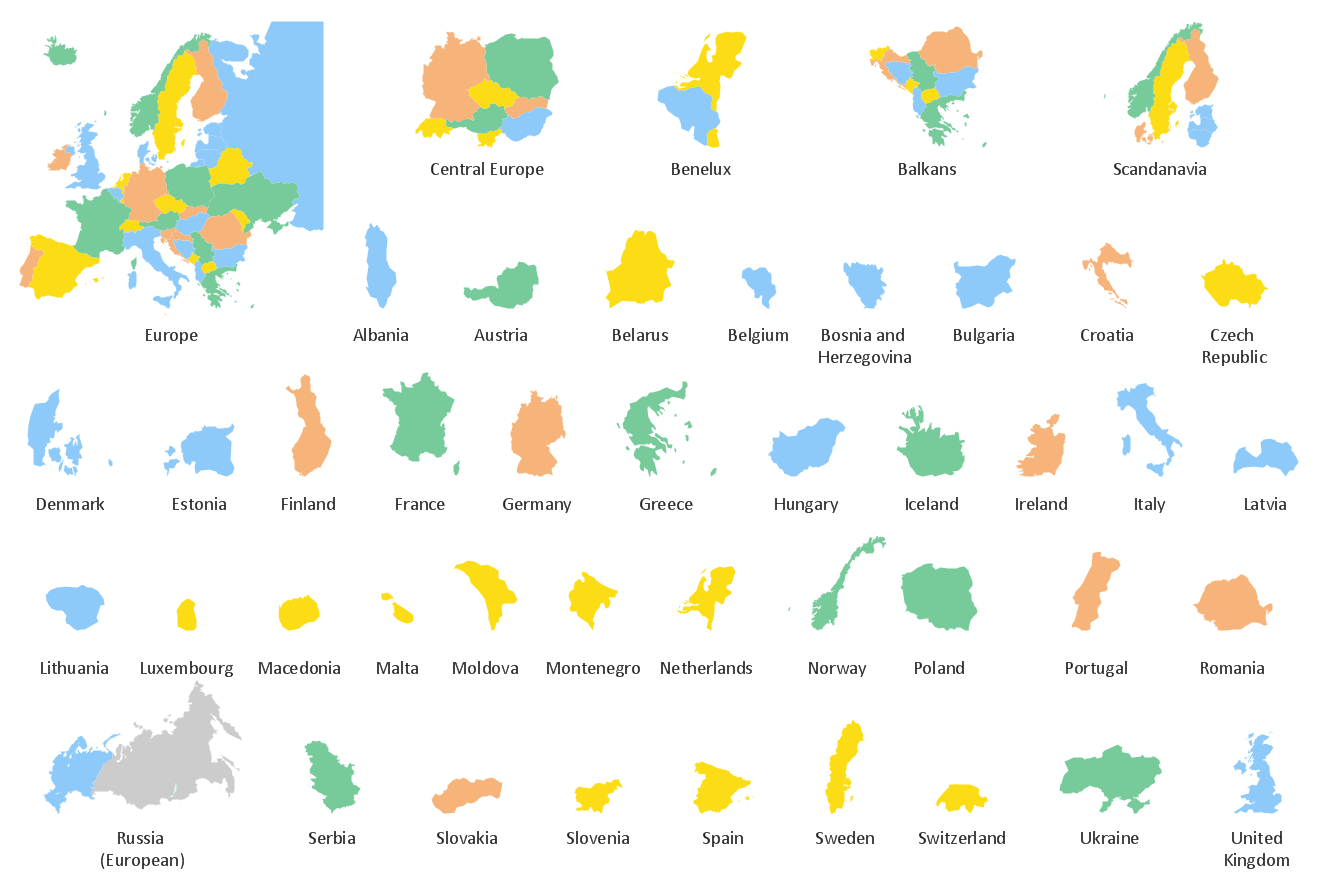 Continent Maps Solution – Map of the European Continent