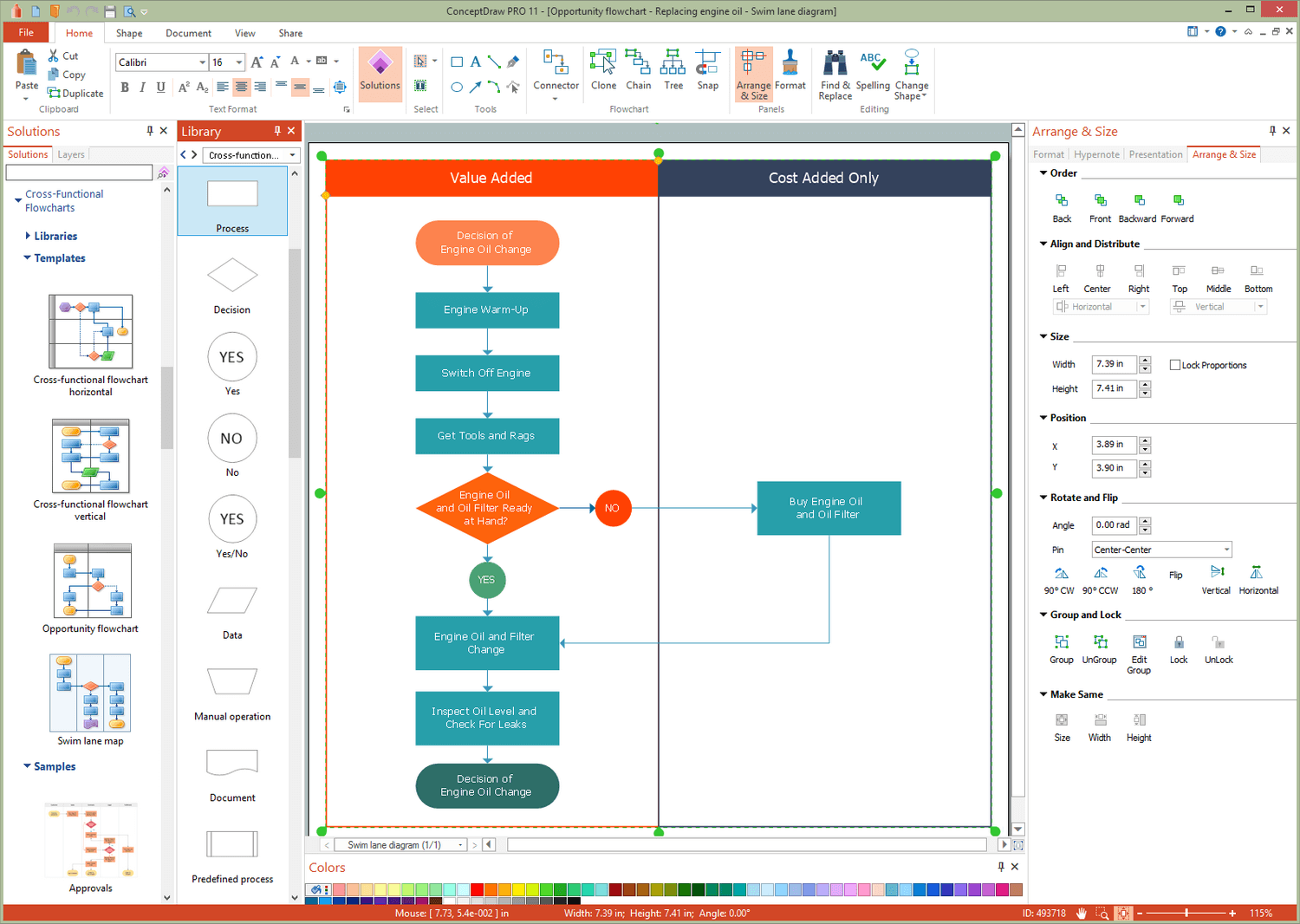 Cross-Functional Flowcharts Solution for Microsoft Windows